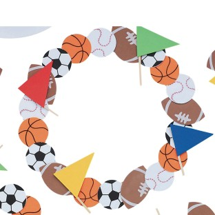 Sports Wreath Craft Kit (Pack of 12) - Image 1 of 2
