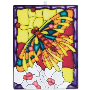 Stain-A-Frame Set - Butterfly Scene, 6-1/2