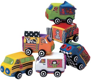 Vroom Vroom Soft Vehicles Set with Rolling Wheels (Set of 6) - Image 1 of 4