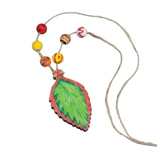 Wood Leaf Necklace Craft Kit (Pack of 12) - Image 1 of 2