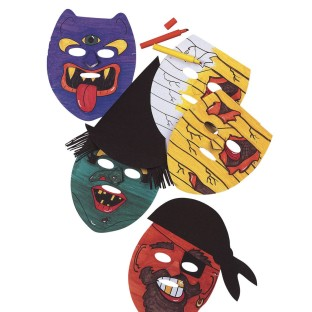 Halloween Masks Craft Kit (Pack of 24) - Image 1 of 2