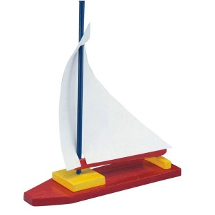 Unfinished Wooden Sailboat, Unassembled (Pack of 12) - Image 1 of 2