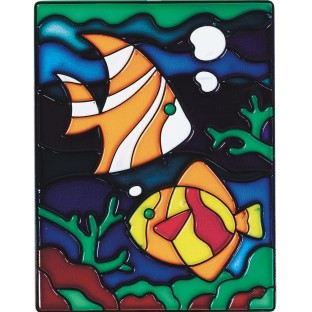 Stain-A-Frame Set, Fish Scene (Pack of 12) - Image 1 of 1