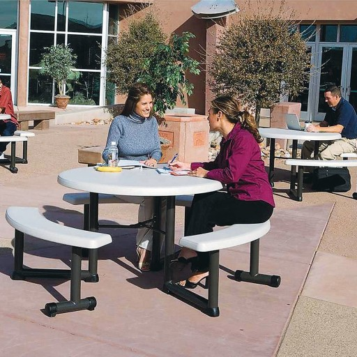 Lifetime Round Picnic Table 44 At, Lifetime 44 Round Picnic Table