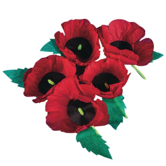 Buy Remembrance Poppies Craft Kit At Ss Worldwide