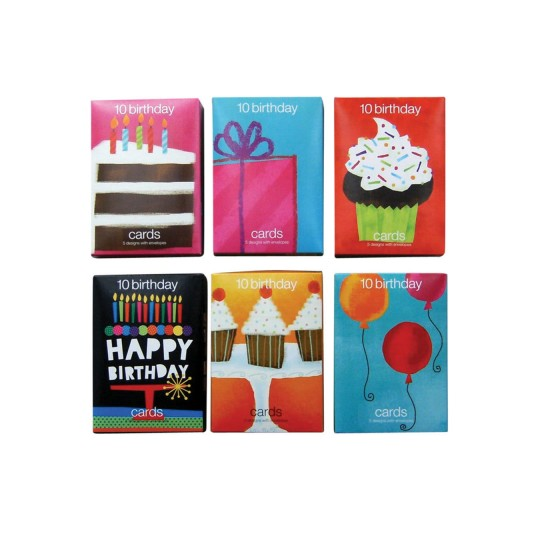 Buy Value Birthday Greeting Cards 12 Boxes Of 10 At SS
