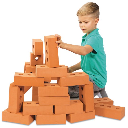 play foam bricks