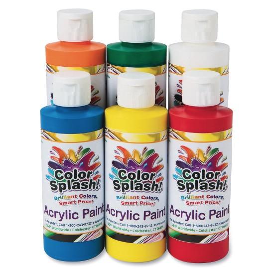 Is Acrylic Paint Toxic >> Buy 8 Oz Color Splash Acrylic Paint Assortment Set Of 6 At S S