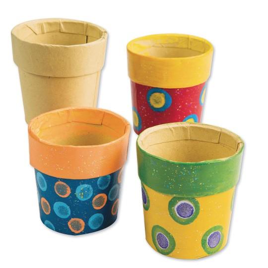 Buy Paper Mache Mini Pots 2 X 2 Pack Of 12 At S S Worldwide