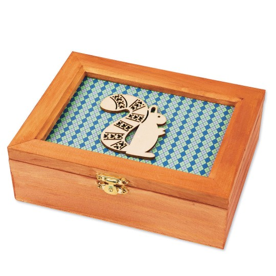 Buy Unfinished Wooden Frame Lid Box At Ss Worldwide