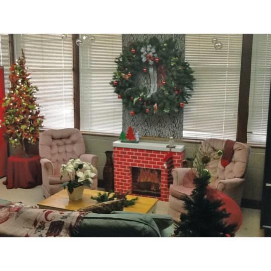 Cardboard Christmas Fireplace.Corobuff Cardboard Fireplace Decoration