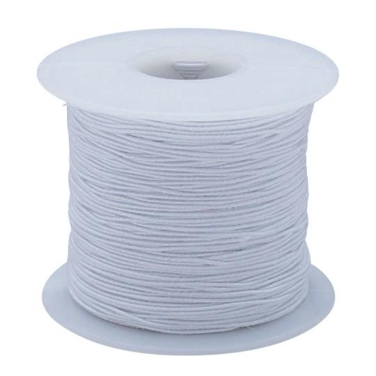 Buy White Elastic Cord 100 Yards Medium At S S Worldwide
