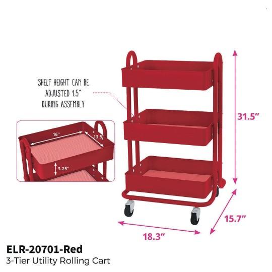 3 tiered storage cart