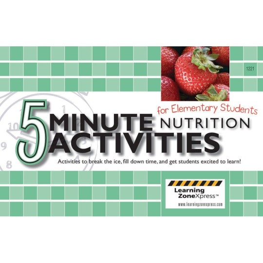 Buy 5 Minute Nutritional Activities For Elementary School At S S