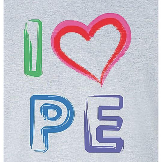 Buy I Love PE T-Shirt, Sport Grey at S&S Worldwide
